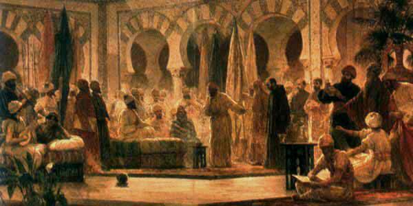 Recepción califal en Madinat al-Zahra según el pintor Dionisio Baixeras