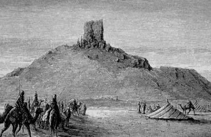 Tribus árabes en el desierto.