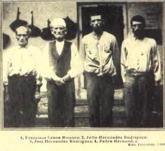 Algunos de los procesados del crimen de Gádor