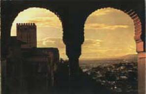 Vista de Granada desde La Alhambra. Atardecer