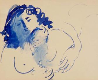 """Maternidad"", dibujo de Baltasar Lobo"