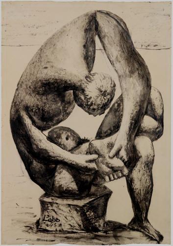 """Estudio sobre la escultura clásica """"El Espinario"""" realizada en 1936"""