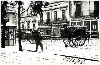 Avenida de la República, en el centro de Almería. Año 1933