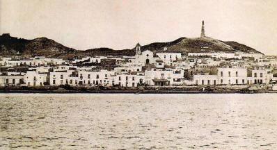 Pueblo de Garrucha. visto desde  el mar