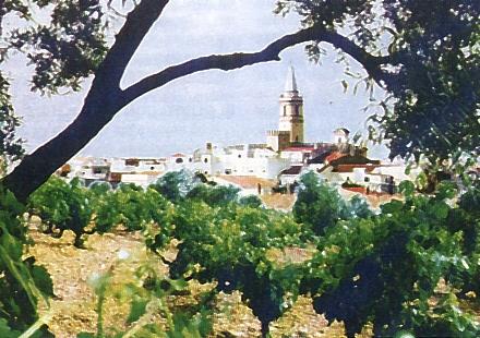 Panorámica del pueblo de Trigueros (Huelva)